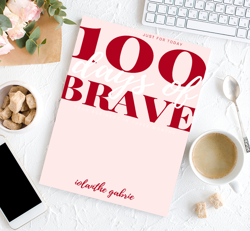 100 days of brave book